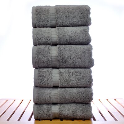 Orchid Hand Towel Set Color: Gray