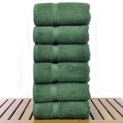 Luxury Hotel and Spa Towel 100% Genuine Turkish Cotton Hand Towel Color: Moss