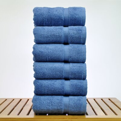 Luxury Hotel and Spa Towel 100% Genuine Turkish Cotton Hand Towel Color: Wedgewood
