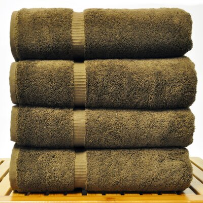 Luxury Hotel and Spa Towel 100% Turkish Cotton Bath Towel Color: Cocoa