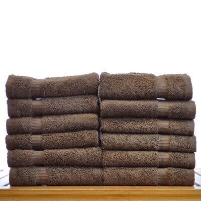 Luxury Hotel and Spa Towel 100% Genuine Turkish Cotton Wash Cloth Color: Cocoa