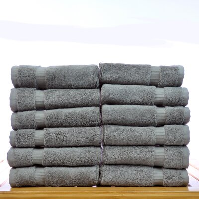 Luxury Hotel and Spa Towel 100% Genuine Turkish Cotton Wash Cloth Color: Gray
