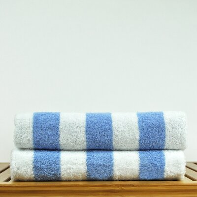 Luxury Hotel and Spa Towel 100% Genuine Turkish Cotton Pool Beach Towel Color: Light Blue