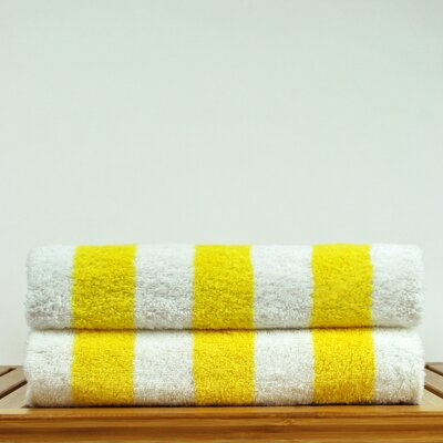 Luxury Hotel and Spa Towel 100% Genuine Turkish Cotton Pool Beach Towel Color: Yellow