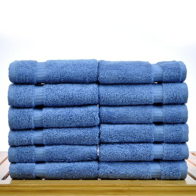 Luxury Hotel and Spa Towel 100% Genuine Turkish Cotton Wash Cloth Color: Wedgewood