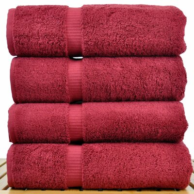 100% Turkish Cotton Bath Towel Color: Cranberry