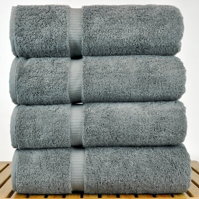 Luxury Hotel and Spa Towel 100% Turkish Cotton Bath Towel Color: Gray