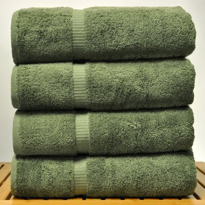 Luxury Hotel and Spa Towel 100% Turkish Cotton Bath Towel Color: Moss
