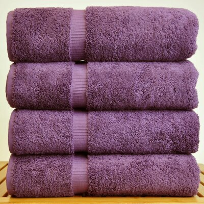 100% Turkish Cotton Bath Towel Color: Plum
