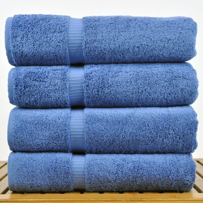 100% Turkish Cotton Bath Towel Color: Wedgewood