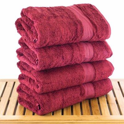Blossom Bath Towel Color: Cranberry