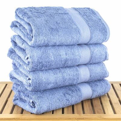 Blossom Bath Towel Color: Wedgwood