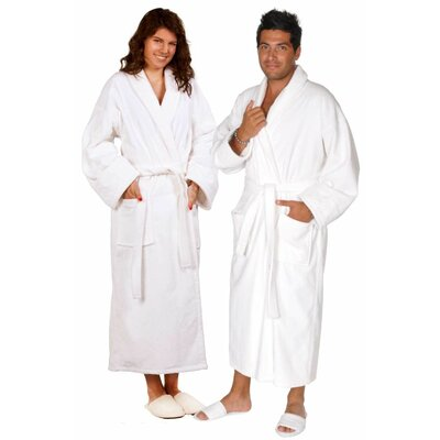 Terry Velour Shawl Robe Size: Adult - Small Medium, Color: White