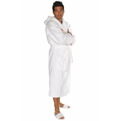 Hooded Terry Velour Robe Color: White, Size: Adult - One Size