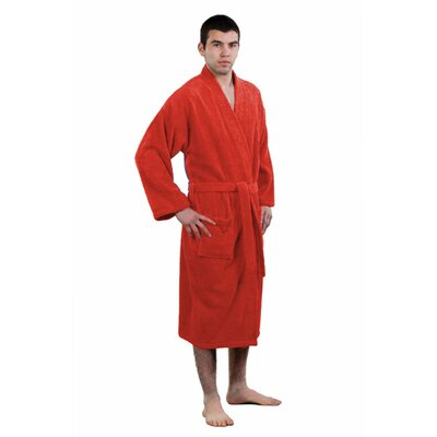 Terry Kimono Robe Size: Adult - One Size, Color: Burgundy