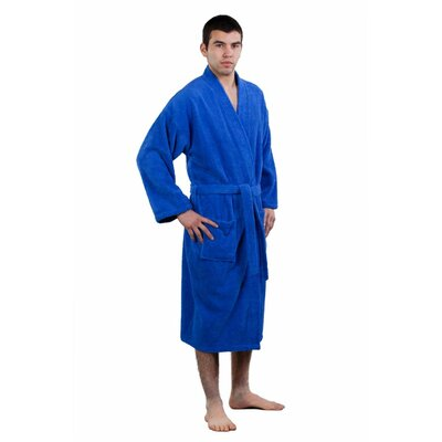 Terry Kimono Robe Size: Adult - One Size, Color: Royal Blue