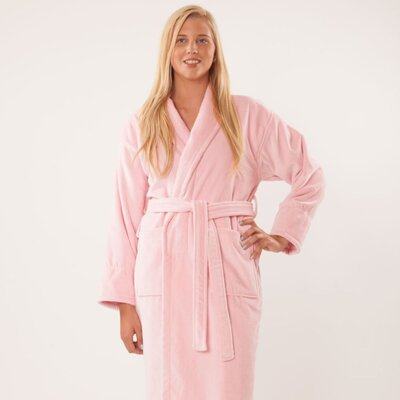 Terry Velour Shawl Robe Size: Adult - One Size, Color: Peach