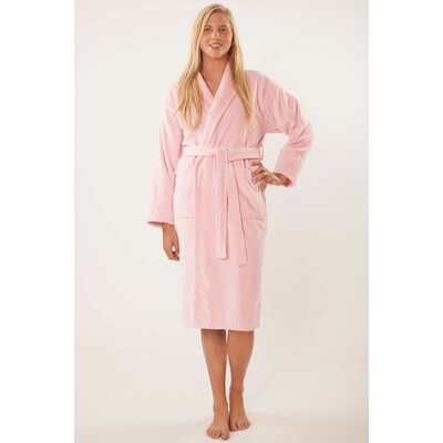 Terry Velour Shawl Robe Size: Adult - Small Medium, Color: Royal Blue