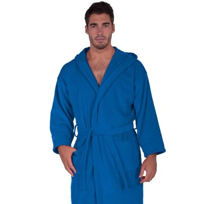 Hooded Terry Velour Robe Size: Adult - One Size, Color: Royal Blue