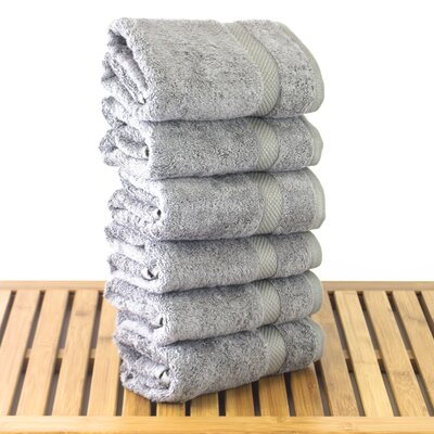 Blossom Hand Towel Color: Gray
