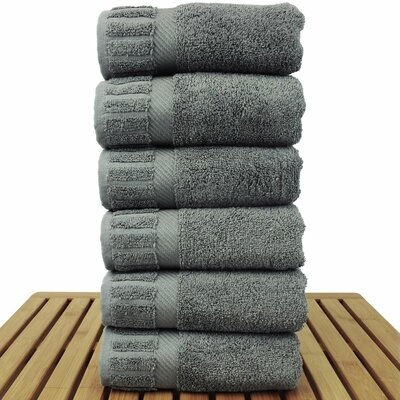 Fiorella Hand Towel Set Color: Gray
