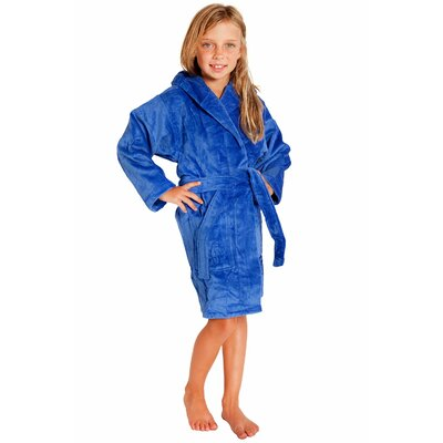 Kids Hooded Terry Velour Robe Size: Kids (Age 3-6) - Small Medium, Color: Royal Blue