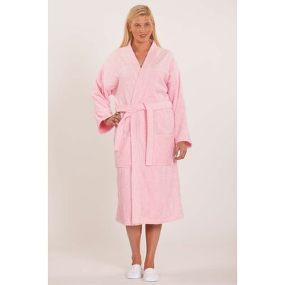 Terry Kimono Robe Size: Adult - One Size, Color: Pink