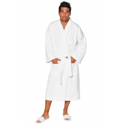Terry Velour Kimono Robe Size: Adult - One Size, Color: White