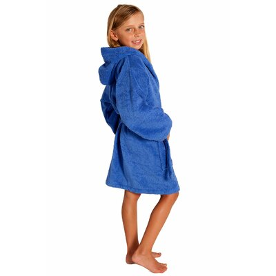 Roxanne Kids Hooded Terry Robe Size: Kids (Age 7-10) - Large, Color: Royal Blue