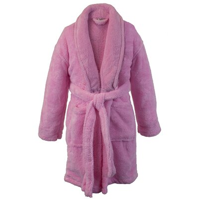 Kids Shawl Robe Size: Kids (Age 9-12) - Large, Color: Pink