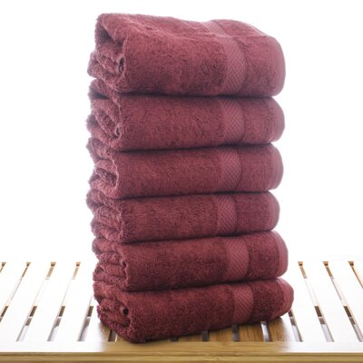 Blossom Hand Towel Color: Cranberry