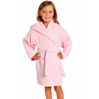 Roxanne Kids Hooded Terry Robe Size: Kids (Age 3-6) - Small Medium, Color: Pink