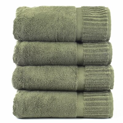 Fiorella Bath Towel Set Color: Moss