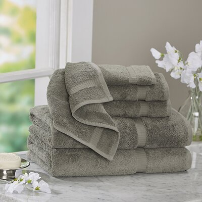 Luxury 6 Piece Turkish Cotton Towel Set Color: Gray