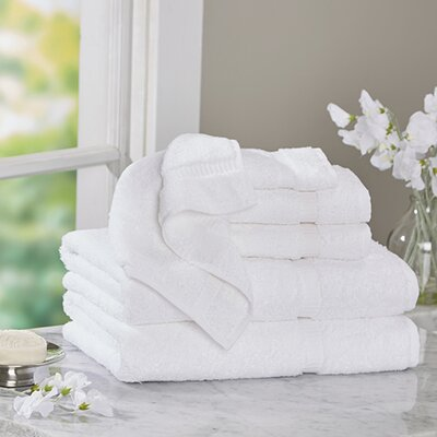 Luxury 6 Piece Turkish Cotton Towel Set Color: White