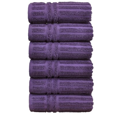 Striped Hand Towel Color: Plum