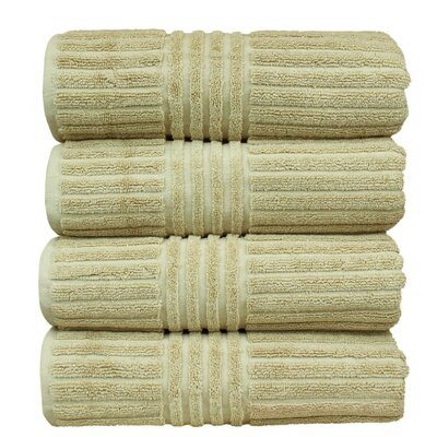Striped Bath Towel Color: Driftwood