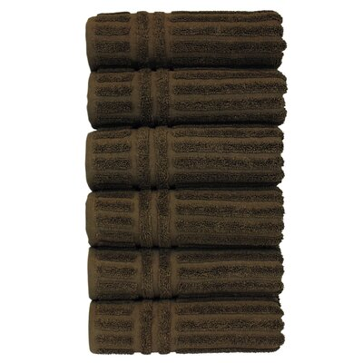 Striped Hand Towel Color: Cocoa