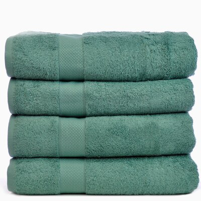 Blossom Bath Towel Color: Green