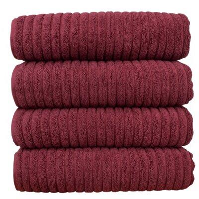 Ribbed Bath Towel Color: Cranberry