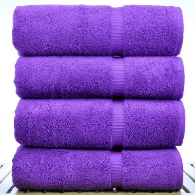 Dobby Border Bath Towel Color: Eggplant