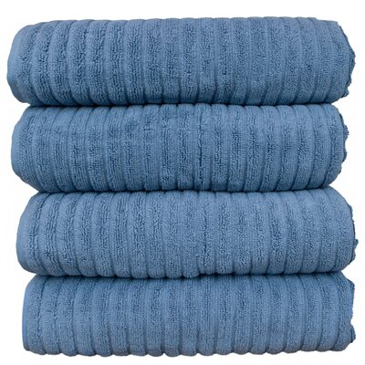 Ribbed Bath Towel Color: Wedgewood