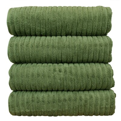 Ribbed Bath Towel Color: Moss