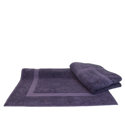 Dobby Border Bath Mat Color: Plum