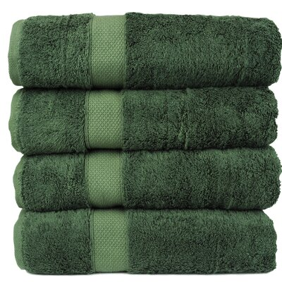 Blossom Bath Towel Color: Moss