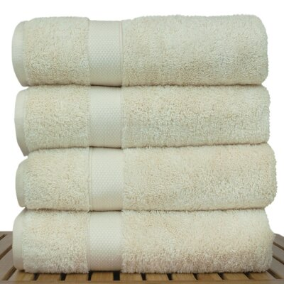 Blossom Bath Towel Color: Beige