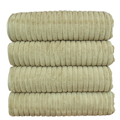 Ribbed Bath Towel Color: Driftwood
