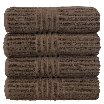 Striped Bath Towel Color: Cocoa