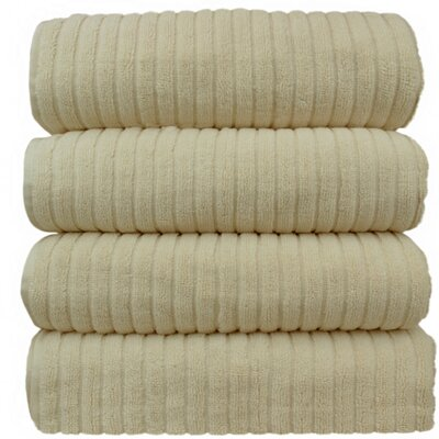 Ribbed Bath Towel Color: Beige