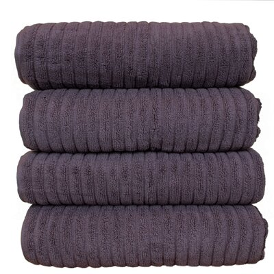 Ribbed Bath Towel Color: Plum
